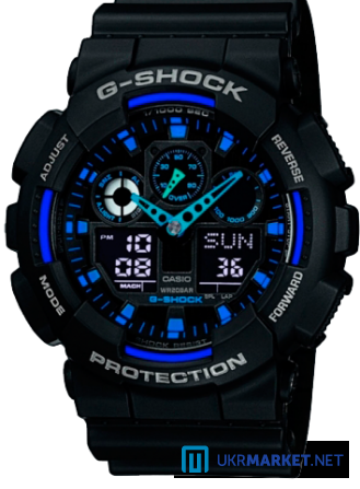 Часы Casio G-SHOCK GA-100 Все цвета Львов - изображение 3