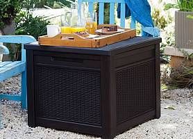 Стол-сундук, ящик Cube Rattan Storage Box Allibert, Keter