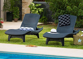 Шезлонг-лежак Keter Pacific Sun Lounger 2 Pack