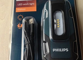 Инспекционный LED фонарь Philips RC320B1 EcoPro20 фонарик лампа с USB