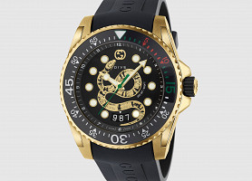 Новые Gucci Dive Gold Snake watch. Оригинал с документами