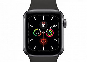 Apple Watch Series 5 40mm Space Gray Aluminum Case with Black Sport