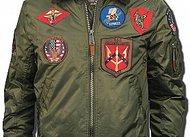 Бомбер Top Gun B-15 Jacket With Patches TGJ1542P (Olive)