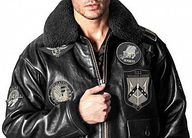 Кожаная куртка Top Gun Offical Signature Series Jacket (Black)
