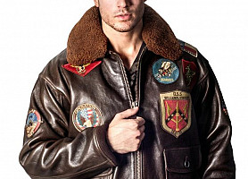 Кожаная куртка Top Gun Offical Signature Series Jacket (Brown)