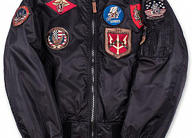 Куртка Top Gun MA-1 Nylon Bomber Jacket With Patches (Black)