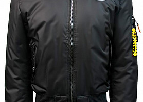 """Куртка Top Gun Official MA-1 """"WINGS"""" Bomber With Patches (Black)"""