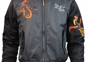 Бомбер Top Gun The Flying Legend Bomber Jacket (Charcoal)