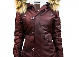 Женская Аляска Miss Top Gun Fitted Nylon N-3B Parka (Maroon)