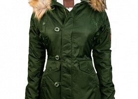 Женская Аляска Miss Top Gun Fitted Nylon N-3B Parka (Olive)