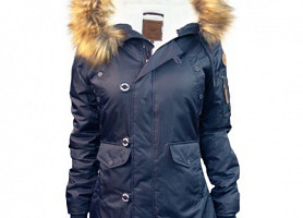 Женская Аляска Miss Top Gun Fitted Nylon N-3B Parka (Navy)