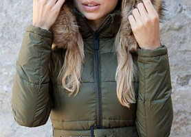 Женский Пуховик Top Gun Nylon Insulated Down Jacket (Olive)