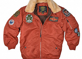 Детская куртка Boys Maverick Jacket Alpha Industries (Rust)