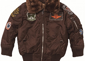 Детская Куртка Boys Maverick Jacket Alpha Industries (Cocoa)