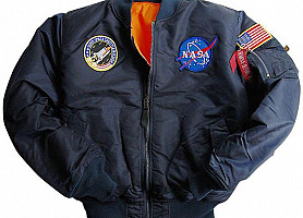 Куртка Youth NASA MA-1 Flight Jacket Alpha Industries (Blue)