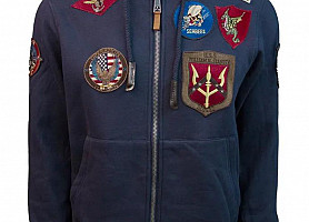 Реглан Top Gun Men's Zip Up Hoodie With Patches (Blue)