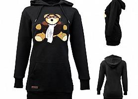 Реглан Top Gun Women's Long Teddy Hoodie (Black)