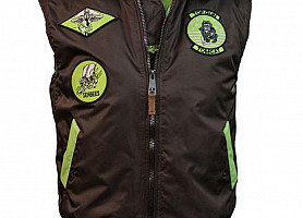 Жилетка Top Gun MA-1 Bomber Vest With Patches (Brown)