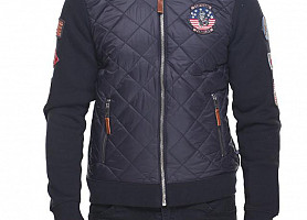 Куртка-Реглан Top Gun Quilted Fleece Hoodie With Patches (Black)
