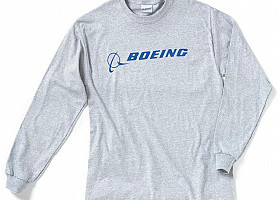 Реглан Boeing Long Slv Signature T-Shirt (Grey)