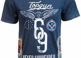 "Футболка Top Gun ""Flags Tee"" (Navy)"