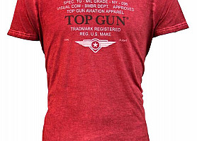 "Футболка Top Gun ""Specs-Logo"" Tee (Red)"