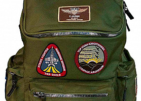 Рюкзак Top Gun Backpack With Patches (Olive)