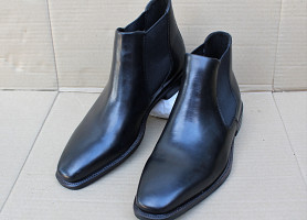 Ботинки челси ecco faro plain toe boot chelsea 620754 оригінал р.44