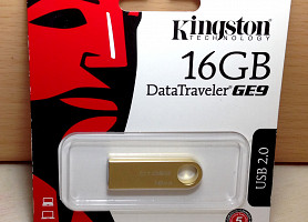 Флешка Kingston DataTraveler GE9 USB-накопитель DTGE9 16GB gold metal